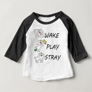 Camiseta ESTÁTICA do JOGO do ACORDAR de Shih Tzu do cão