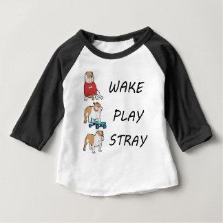 Camiseta ESTÁTICA do JOGO do ACORDAR do buldogue do cão