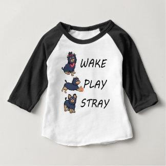 Camiseta ESTÁTICA do JOGO do ACORDAR do yorkshire terrier