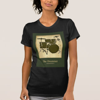 Camiseta estilo da forma do cilindro/cilindros