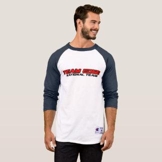 Camiseta Estilo T do basebol dos homens com logotipo básico