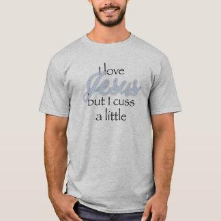 Camiseta Eu amo Jesus mas eu cuss um pouco