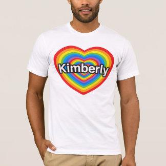 Camiseta Eu amo Kimberly. Eu te amo Kimberly. Coração