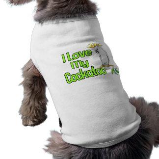 Camiseta Eu amo meu Cockatoo