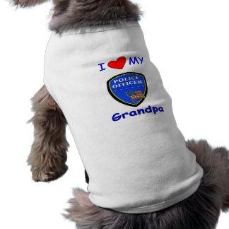 Camiseta Eu amo meu vovô da polícia