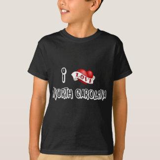 Camiseta Eu amo North Carolina