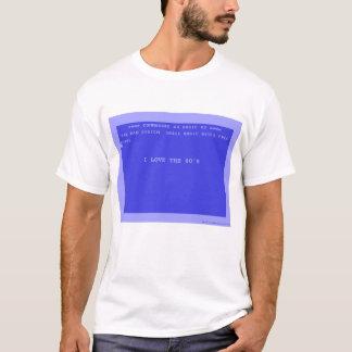 Camiseta Eu amo o anos 80