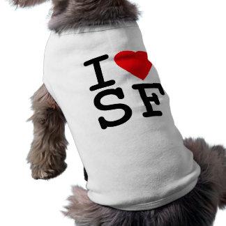 Camiseta Eu amo o coração San Francisco