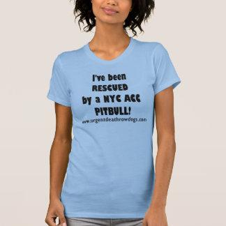 Camiseta Eu FUI SALVADO por um CRNA PITBULL de NYC!
