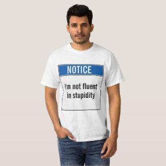 Camiseta Eu não falo aos desconhecido