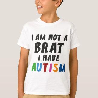Camiseta Eu não sou um pirralho, mim estou com o autismo