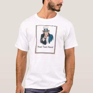 Camiseta Eu quero-o que o tio Sam personaliza seu texto