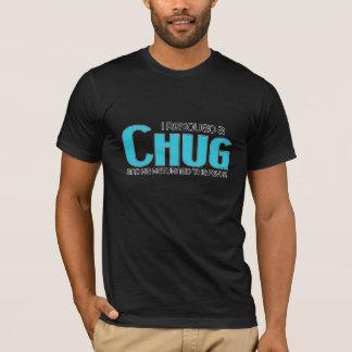 Camiseta Eu salvei um design da adopção do cão do Chug