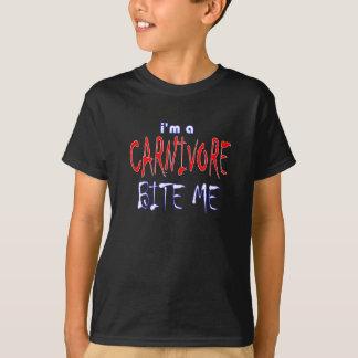 Camiseta Eu sou um carnívoro mordo-me miúdos do humor