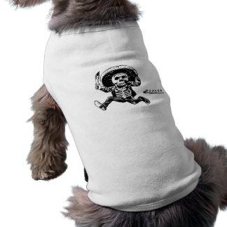 Camiseta Faca de esqueleto mexicana de Posada do vintage