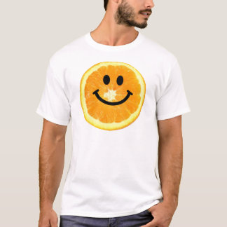 Camiseta Fatia da laranja do smiley