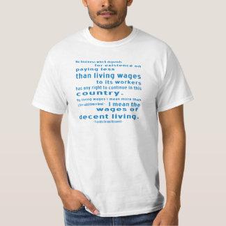Camiseta FDR em salários