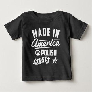 Camiseta Feito em América com peças polonesas