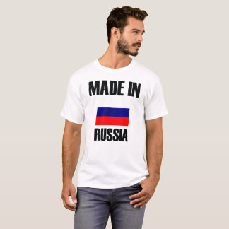 Camiseta Feito na bandeira de Rússia
