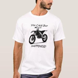 Camiseta Felicidade do comprar - preto no branco
