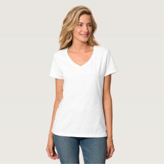 Camiseta Feminina 2X Gola V Personalizada