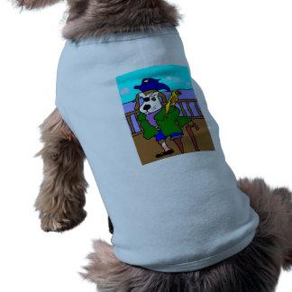 Camiseta Filhote de cachorro Pete do pirata e papagaio de