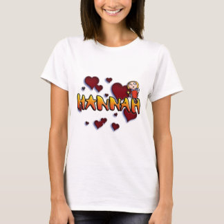 Camiseta first name Hannah for alpargatas and other
