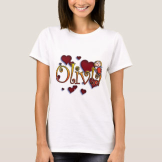Camiseta first name Olivia with! as j