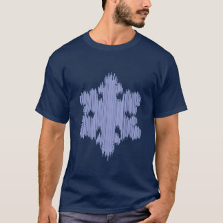 Camiseta Floco de neve do sincelo - os homens Short a luva