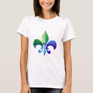 Camiseta Flor de lis:  Padrões da assinatura por Naveen
