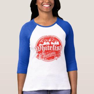 Camiseta Folha de prova vermelha velha do peixe branco