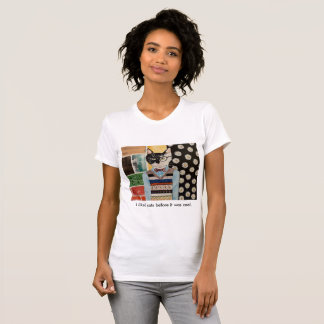 Camiseta Gatinho do hipster (mulheres)