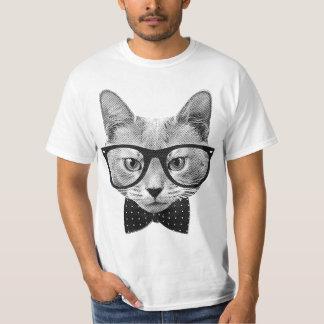 Camiseta Gato do hipster do vintage