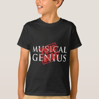 Camiseta Gênio musical: carimbo de borracha surdo do tom