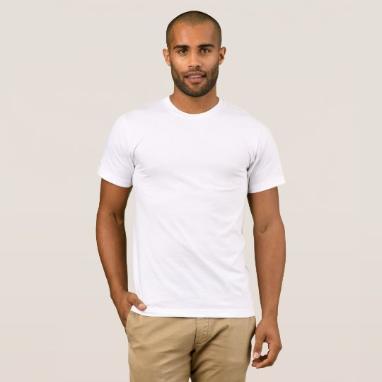 Camiseta masculina básica super macia, Branco
