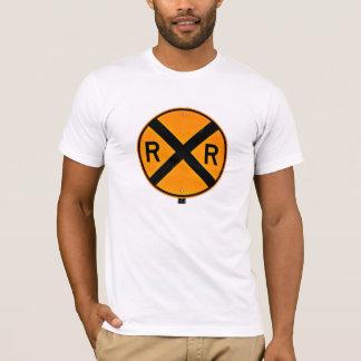Camiseta Grande sinal do cruzamento de estrada de ferro