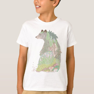 Camiseta Habitat do urso preto