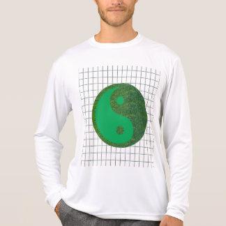 Camiseta Herança verde do chinês do equilíbrio YIN YANG