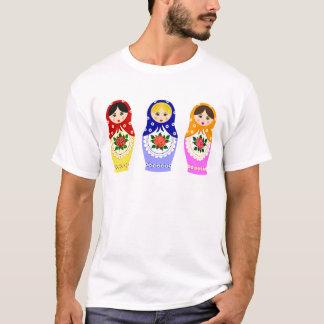 Camiseta Homem das bonecas de Matryoschka