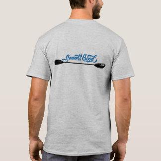 Camiseta Homens da pá do caiaque do som o T dos bons