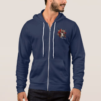 Camiseta Hoodie do Zipper de bull terrier Union Jack do