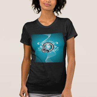 Camiseta ilustração da música com auto-falante e elemento
