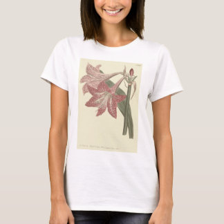 Camiseta Ilustração veada pescada rosa do Amaryllis
