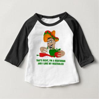 Camiseta Im um vegetariano e eu amamos meus vegetais