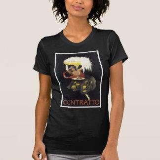 Camiseta Impressão da arte do poster de Contratto Champagne