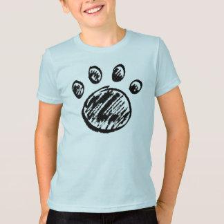 Camiseta Impressão da pata