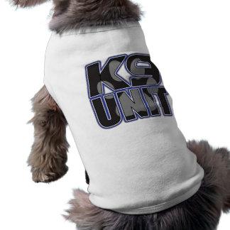 Camiseta Impressão da pata da unidade da polícia K9