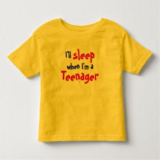 Camiseta Infantil Eu dormirei quando eu sou um adolescente