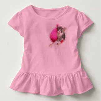 Camiseta Infantil Menina do gatinho