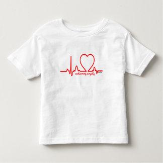 Camiseta Infantil Pulsação do coração 4t da doença cardíaca do apoio